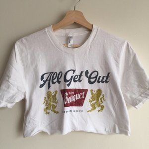 All Get Out Band Tee - Size S, Cropped